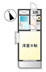 ドール神宮西[2階]の間取り