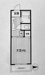 第二フラッツ横浜[101号室]の間取り