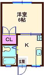カーザフローラ[2階]の間取り