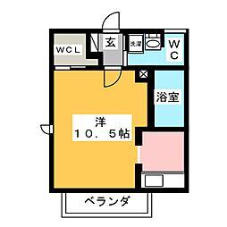 ヴェルドミール A棟[2階]の間取り