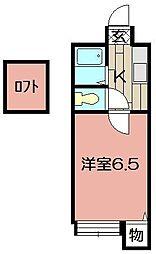 パンシオン森下 B棟[102号室]の間取り