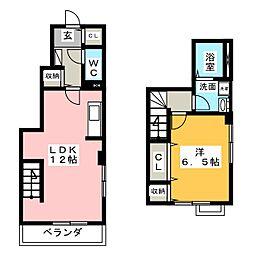 静岡県焼津市西小川5丁目の賃貸アパートの間取り