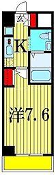 ジェンティーレ・トリヤマ 4階1Kの間取り