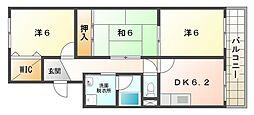 マーブルコート[1階]の間取り