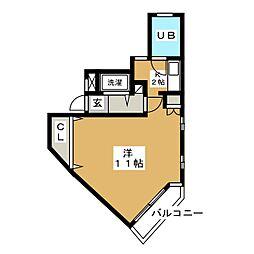 イストワール植田[1階]の間取り