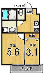 nico西京極[306号室]の間取り