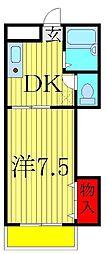 ハイムまことA・B[A203号室]の間取り