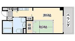 サンライフ尾崎[3階]の間取り