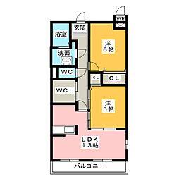 グレイト水広下[3階]の間取り