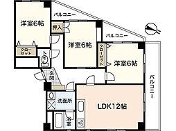 ベルハイム弐番館[3階]の間取り