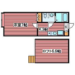 メゾンド・ショコラ[2階]の間取り