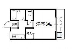 吉村町アパート[208号号室]の間取り