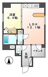 Manoir nakata(マノワールナカタ)[4階]の間取り