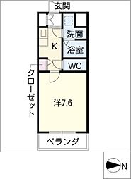 現代ハウス黄金[10階]の間取り