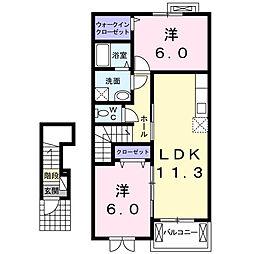 ゴレアドールII[2階]の間取り