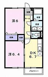 ファミール旭ヶ丘I[1階]の間取り