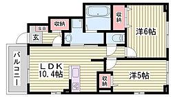 JR東海道・山陽本線 明石駅 バス12分 変電所前下車 徒歩5分の賃貸アパート 1階2LDKの間取り