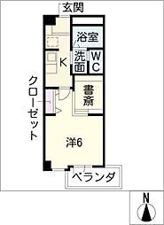 COZY PLACE星ヶ丘[5階]の間取り