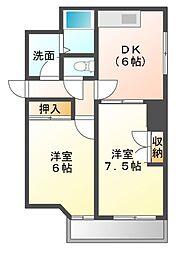 レジデンシア東別院(第7協和ビル)[7階]の間取り
