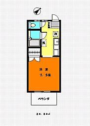 ハイツシラギク2号館[2階]の間取り
