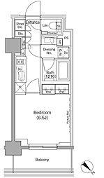東京メトロ有楽町線 月島駅 徒歩1分の賃貸マンション 4階1Kの間取り