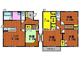 [一戸建] 岡山県岡山市北区庭瀬丁目なし の賃貸【/】の間取り