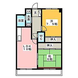 シェモアII[2階]の間取り