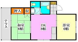 ヤングハウス5[101号室]の間取り