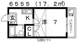 ハイツ藤井寺[203号室号室]の間取り