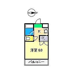 サニーパレス朝倉[5階]の間取り