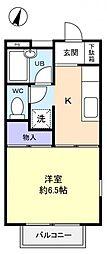 千葉県船橋市習志野台3丁目の賃貸アパートの間取り