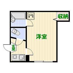 コーポ松丸[0201号室]の間取り