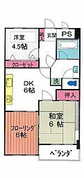 JR南武線 谷保駅 徒歩11分の賃貸マンション 3階3DKの間取り