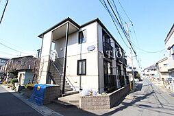 埼玉県草加市花栗4-の賃貸アパートの外観
