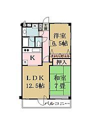 大澤マンション[303号室]の間取り