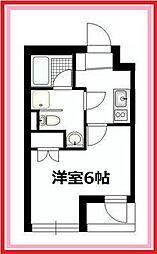 東京都足立区西竹の塚1丁目の賃貸マンションの間取り