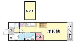 兵庫県神戸市兵庫区会下山町3丁目の賃貸アパートの間取り