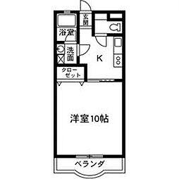 メゾン文京[203号室]の間取り
