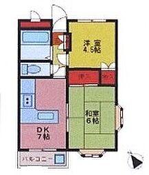 パルティーレ鶴ヶ島[1階]の間取り
