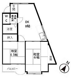 プレアール弥永[3階]の間取り