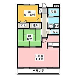 EMESTII[4階]の間取り
