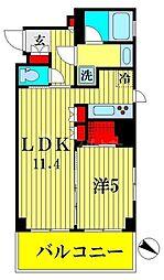 ブランシエスタ森下 4階1LDKの間取り