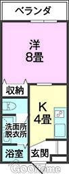 沖縄県うるま市宮里356番地の賃貸アパート 1階1Kの間取り