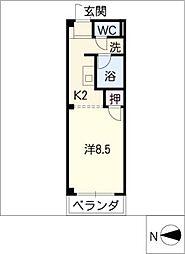 ソレアードM[3階]の間取り