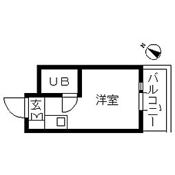 TOP・自由ケ丘第3[0303号室]の間取り