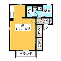 デルニエVI[2階]の間取り