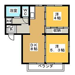 ヒルズTAKI 1[2階]の間取り
