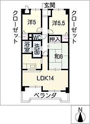 甚目寺マンション[1階]の間取り