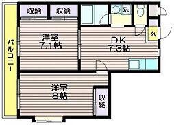 第八島田マンション[101号室]の間取り