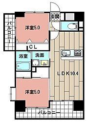 LE GRAND BLEU HAKATA 3階2LDKの間取り